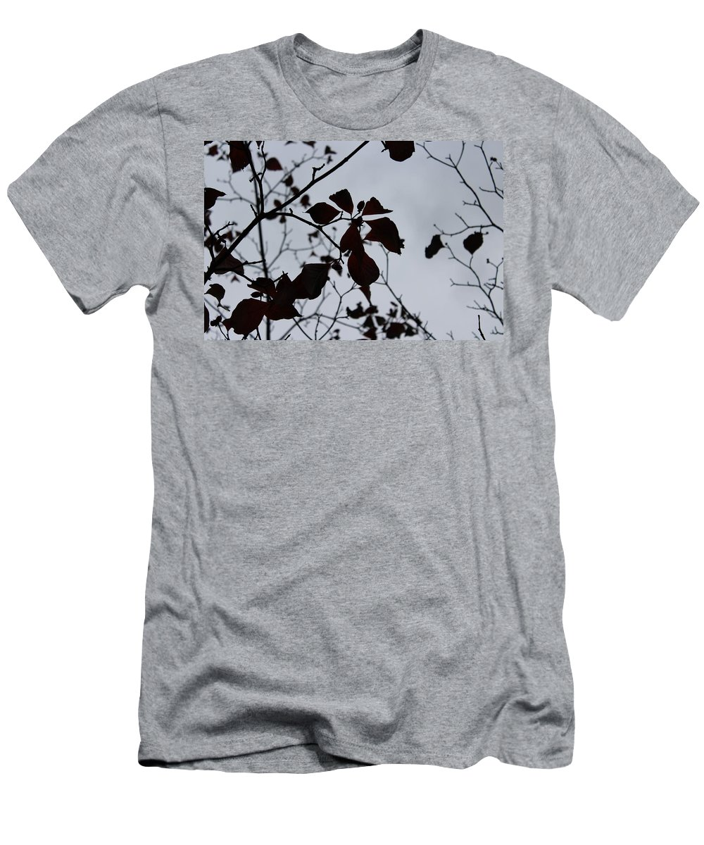 Tree Men's T-Shirt (Athletic Fit) featuring the photograph Tree, Leaves, Black, White by Anelisa Artist Photographer