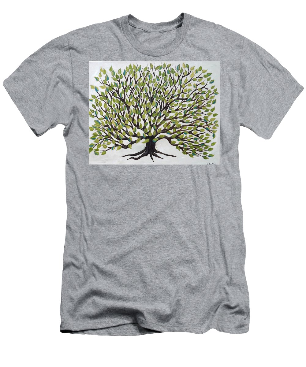 Tree Men's T-Shirt (Athletic Fit) featuring the painting Tree Of Life by Phyllis Gates