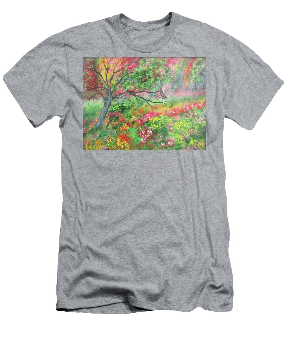 Men's T-Shirt (Athletic Fit) featuring the painting Tree by Robert Clark