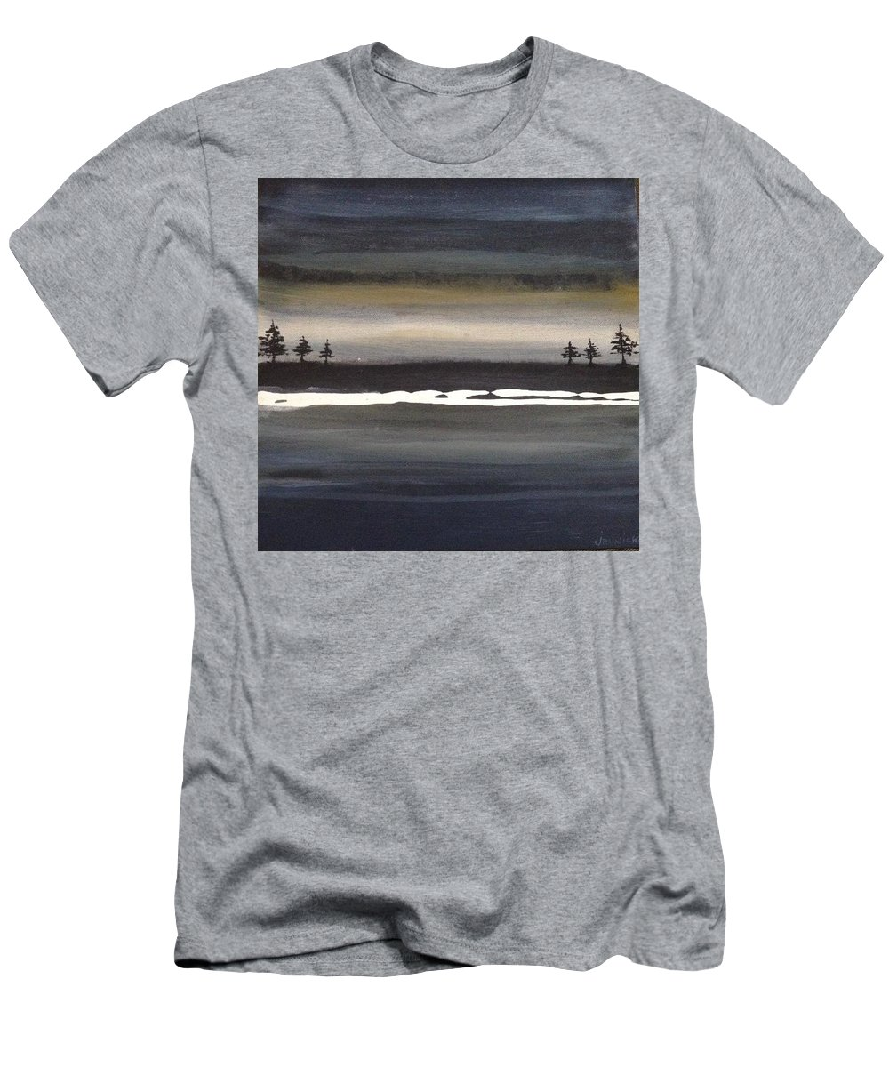 Men's T-Shirt (Athletic Fit) featuring the painting Tree Twins by Jannicke Wiig