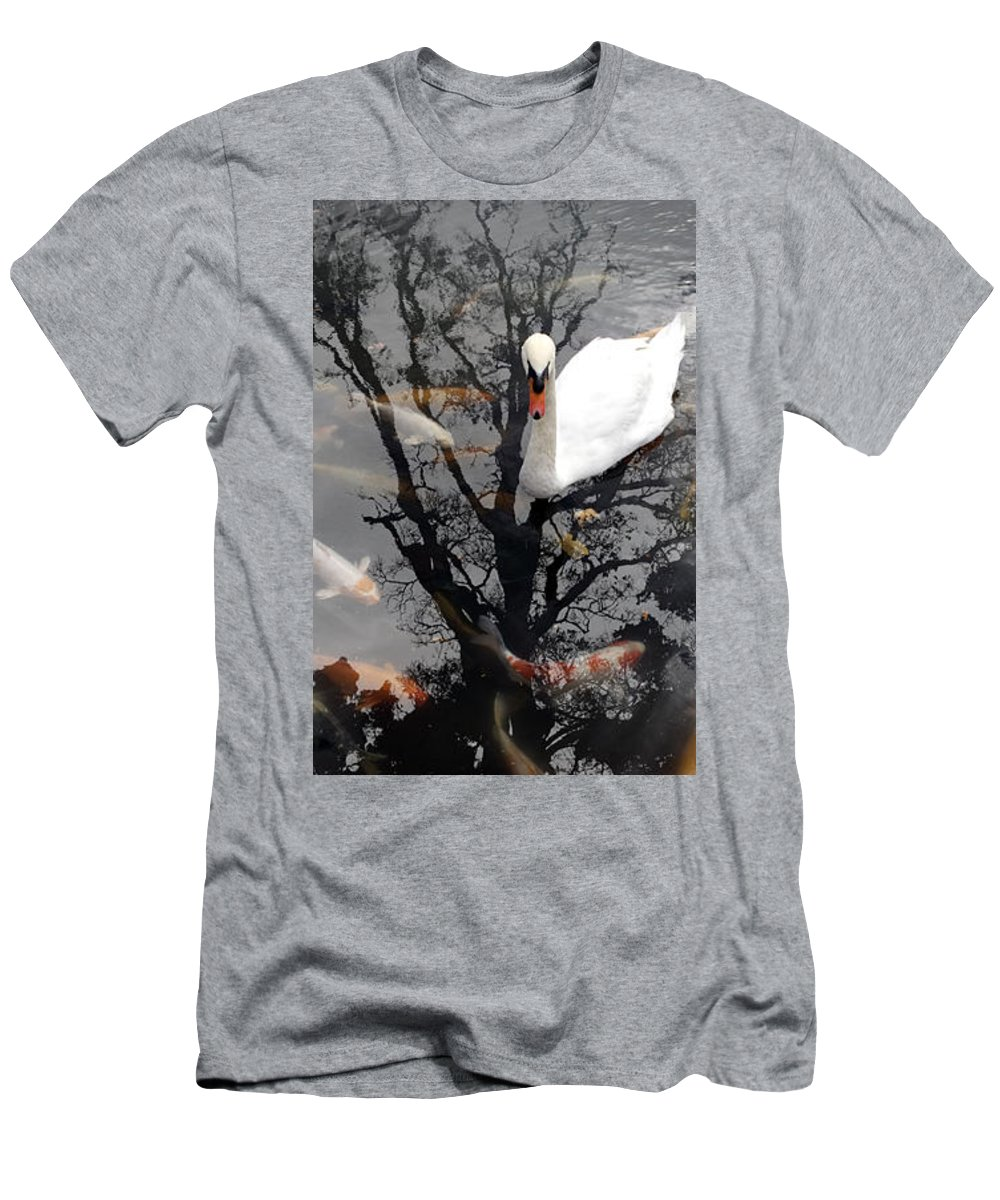 Water Men's T-Shirt (Athletic Fit) featuring the photograph Trees In Japan 7 by George Cabig