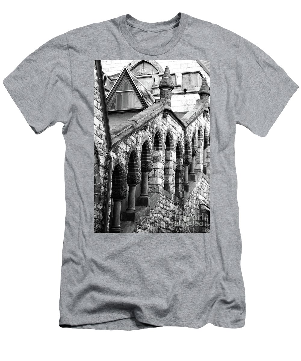 Architecture Men's T-Shirt (Athletic Fit) featuring the photograph Triangle View by Lori Tambakis