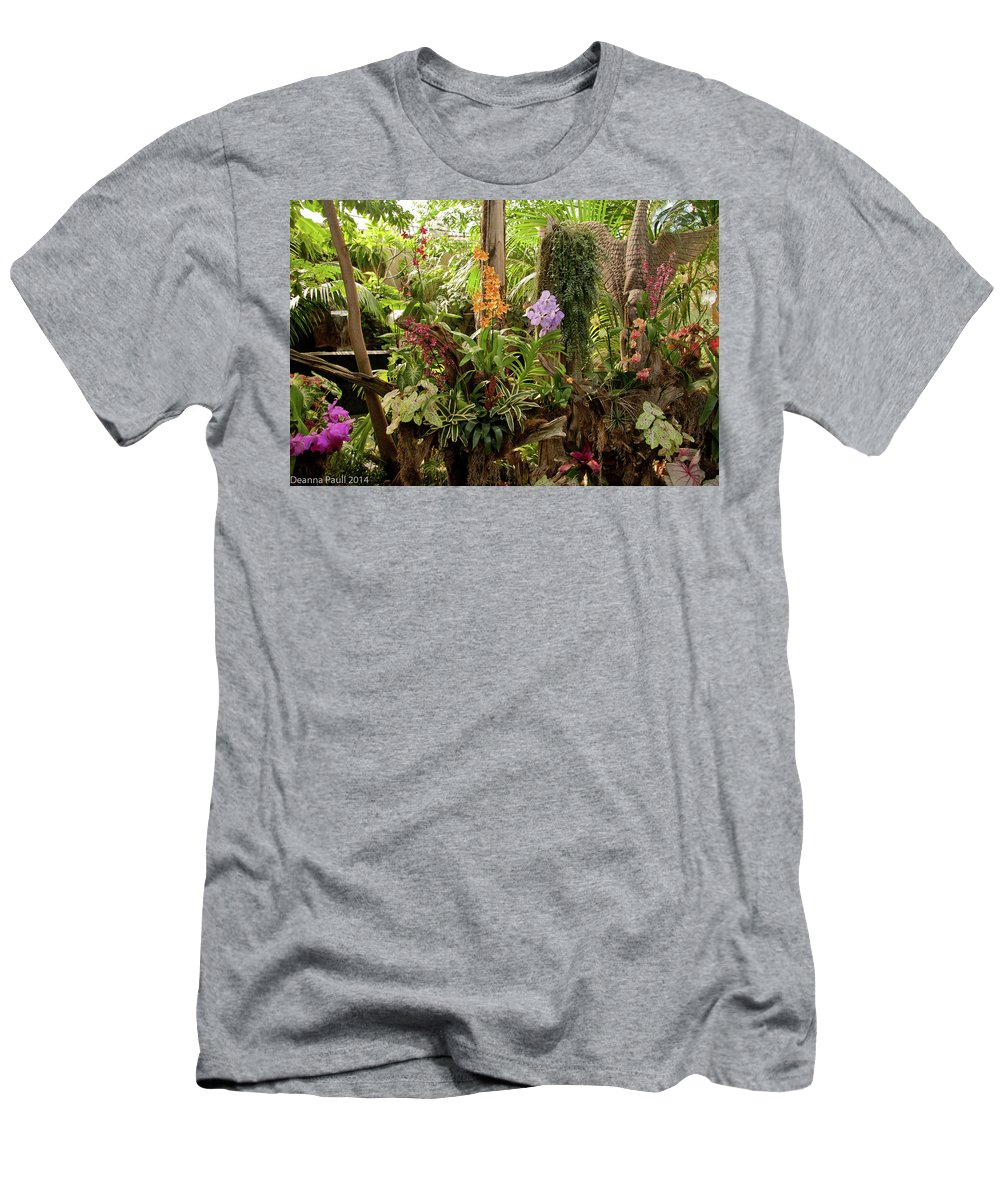 Foliage Men's T-Shirt (Athletic Fit) featuring the photograph Tropic Beauty by Deanna Paull