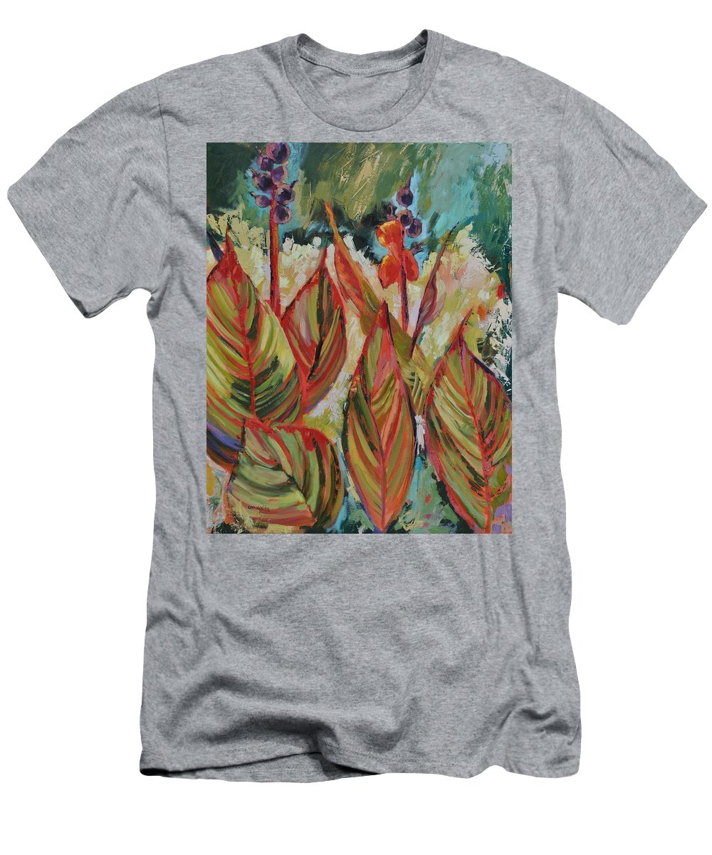 Tropicana Men's T-Shirt (Athletic Fit) featuring the painting Tropicana by Ginger Concepcion