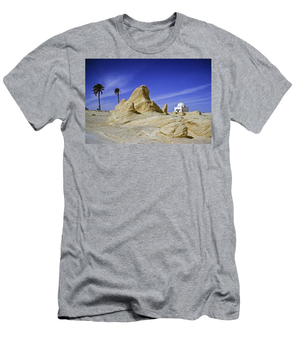 Africa Men's T-Shirt (Athletic Fit) featuring the photograph Tunisian Desertscape by Michele Burgess