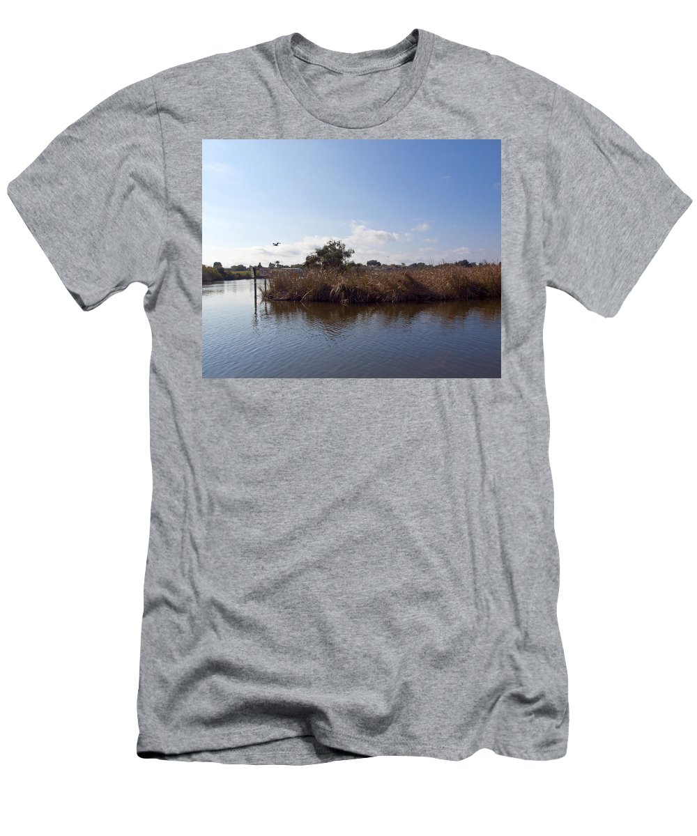 Turkey Men's T-Shirt (Athletic Fit) featuring the photograph Turkey Creek In Palm Bay Florida by Allan Hughes