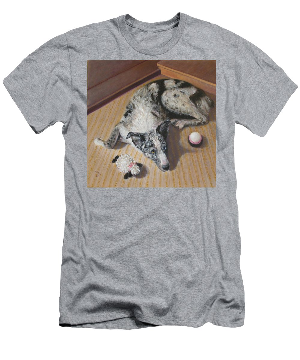 Realism T-Shirt featuring the painting Tweed by Donelli DiMaria