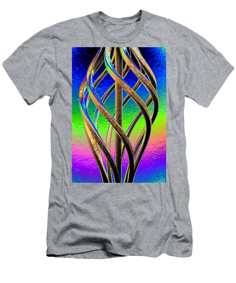 Abstract Men's T-Shirt (Athletic Fit) featuring the digital art Twist And Shout 2 by Will Borden