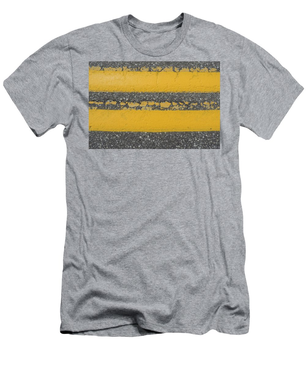 two Yellow Men's T-Shirt (Athletic Fit) featuring the photograph Two Country Yellow by Bill Tomsa