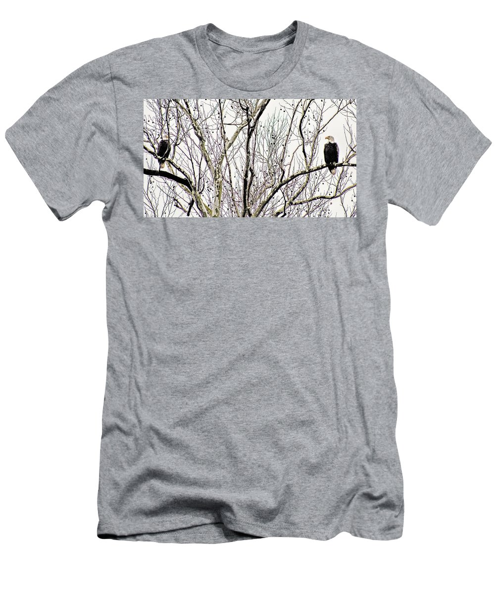 Eagles Men's T-Shirt (Athletic Fit) featuring the photograph Two Of A Kind by Chad Fuller