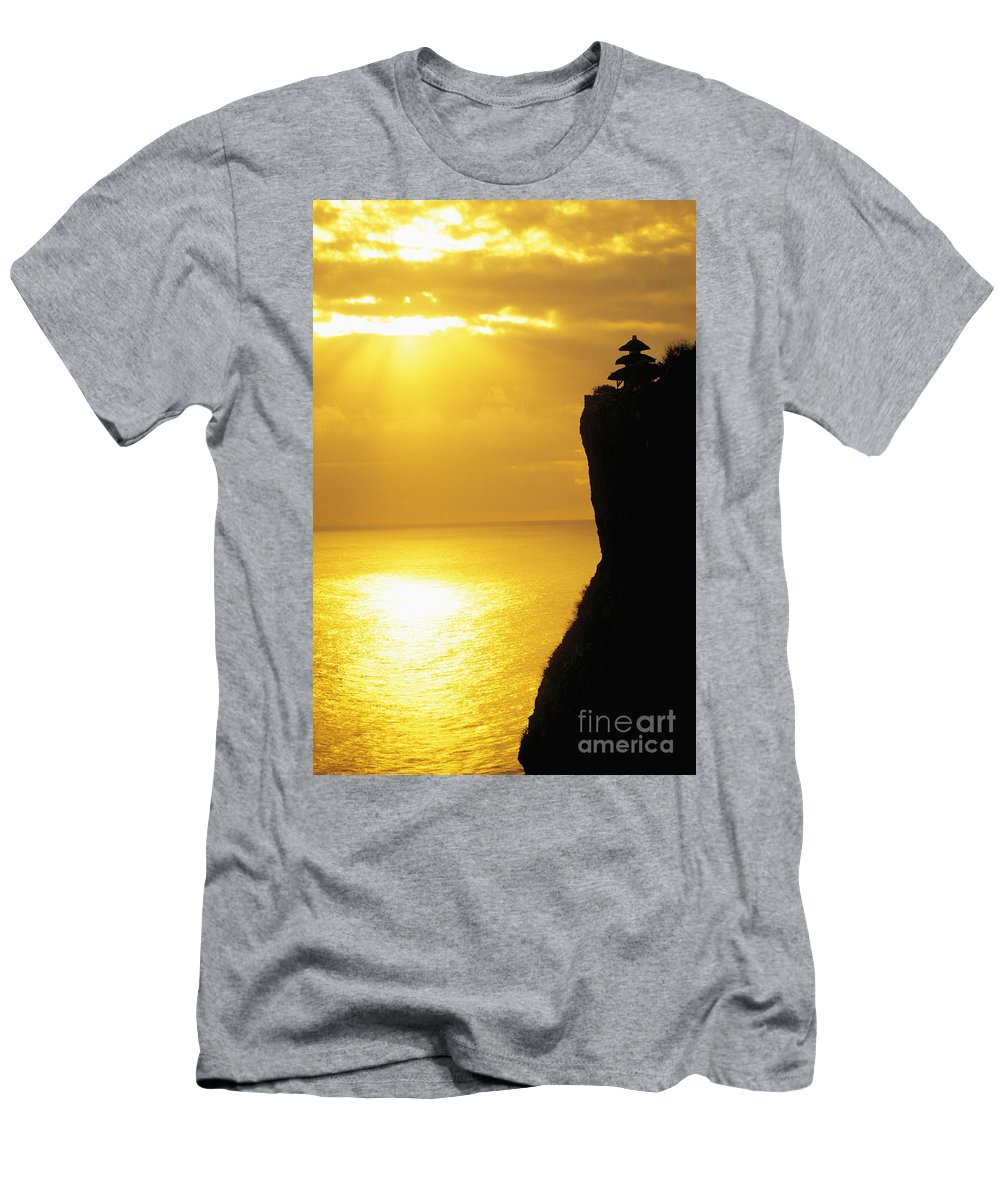 Architectural Men's T-Shirt (Athletic Fit) featuring the photograph Uluwatu Temple by Dana Edmunds - Printscapes