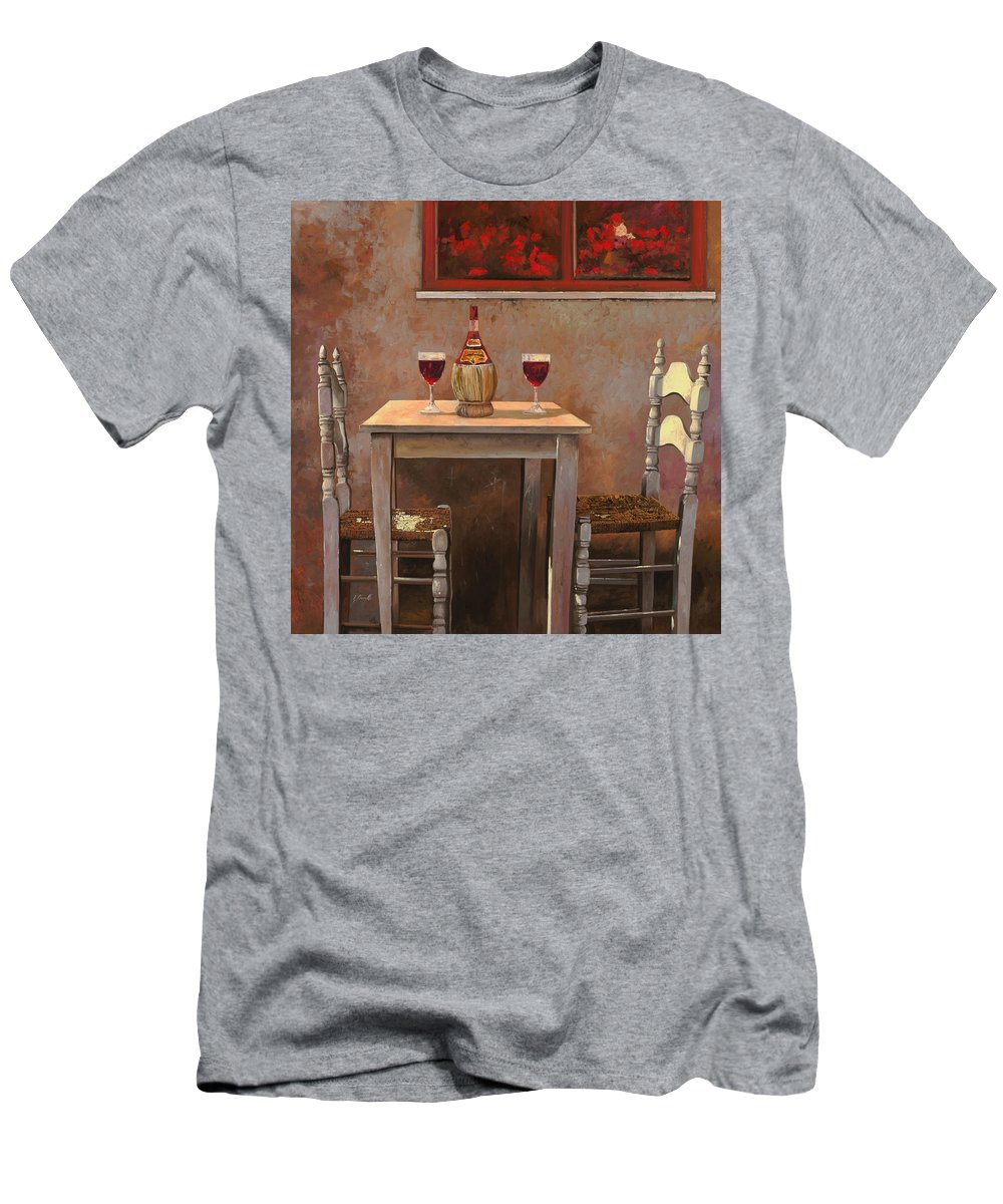 Chianti T-Shirt featuring the painting un fiasco di Chianti by Guido Borelli