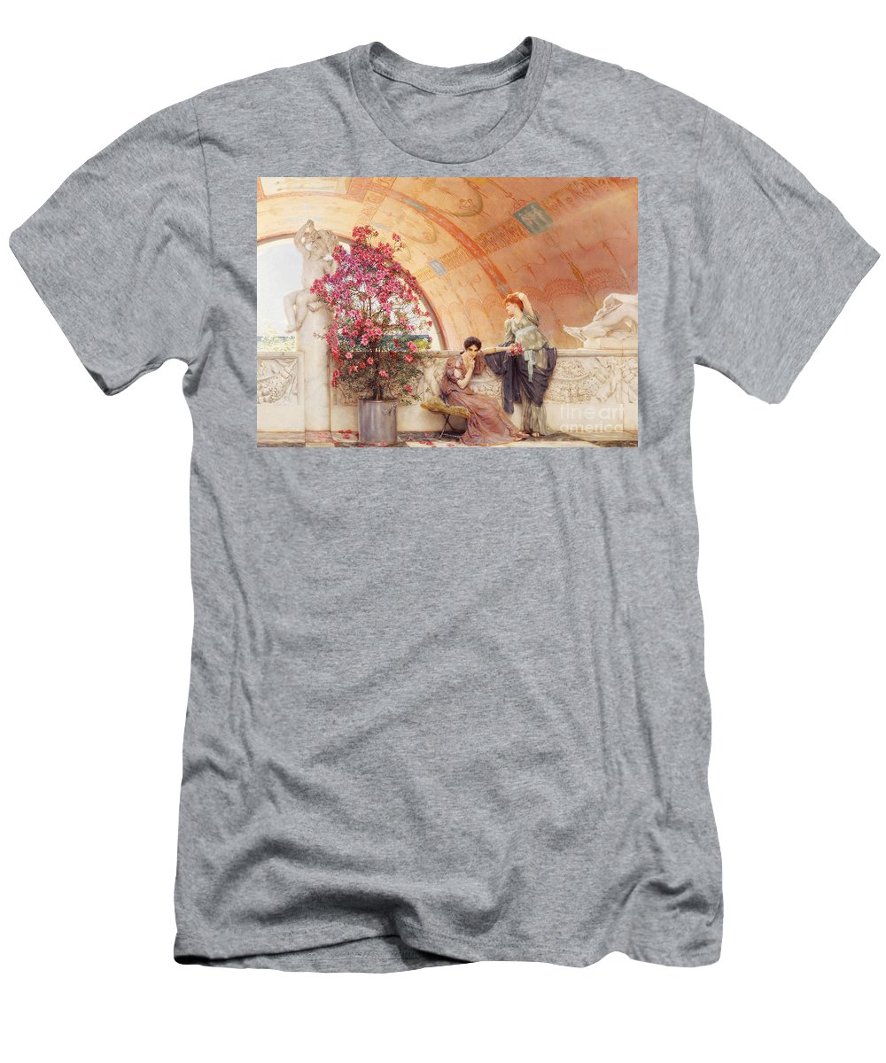 Unconscious Men's T-Shirt (Athletic Fit) featuring the painting Unconscious Rivals by Sir Lawrence Alma Tadema