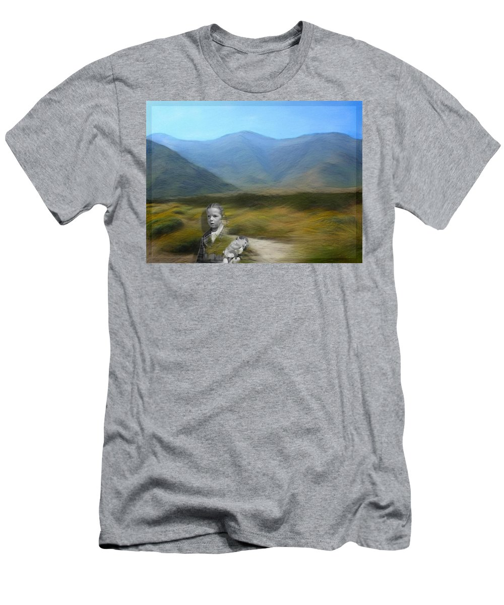 Desert Men's T-Shirt (Athletic Fit) featuring the digital art Unresolved by Snake Jagger