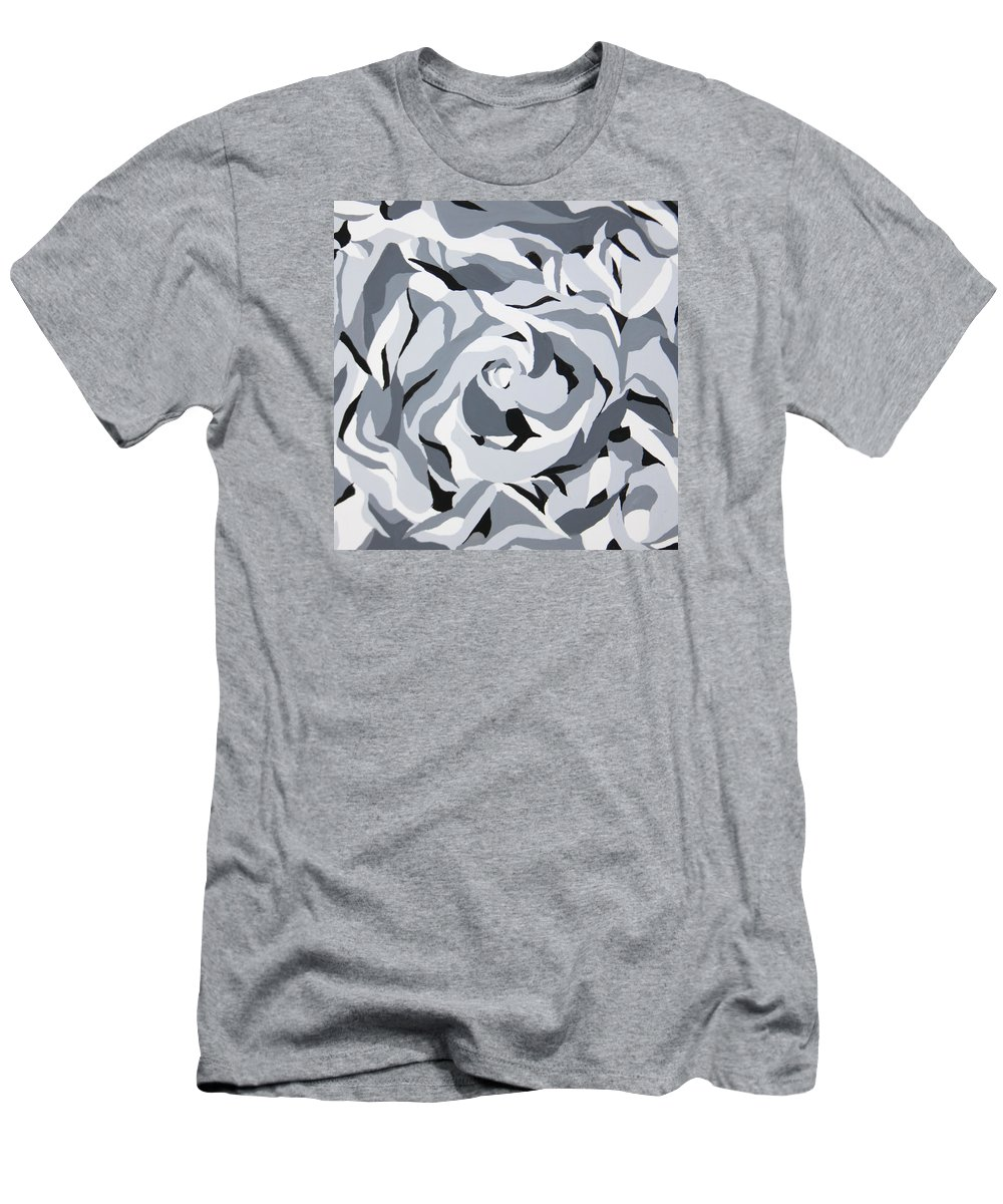 Black And White And Grey Men's T-Shirt (Athletic Fit) featuring the painting Untitled by Dixie Trent