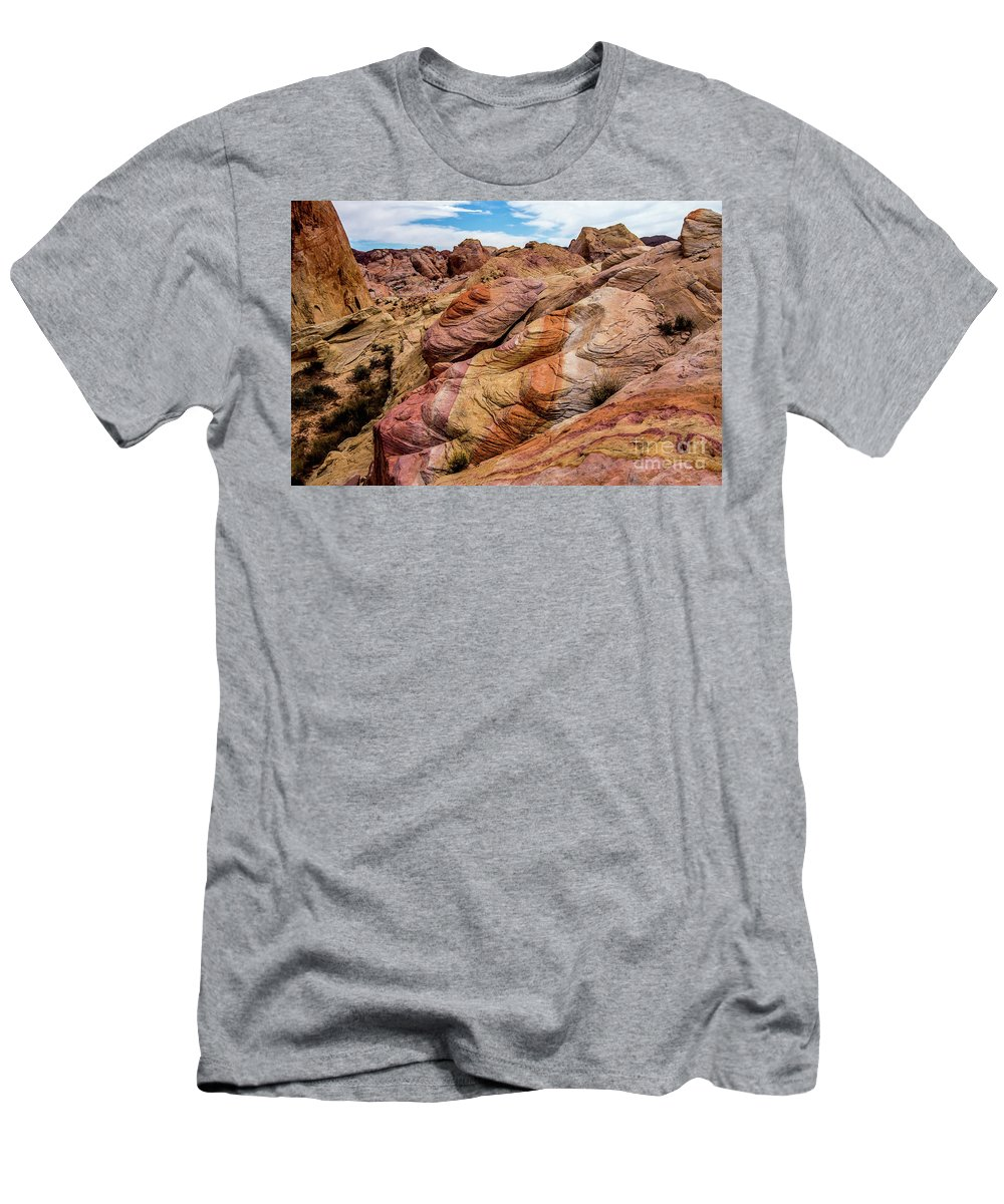 Valley Of Fire Men's T-Shirt (Athletic Fit) featuring the photograph Valley Of Fire by Stephen Whalen