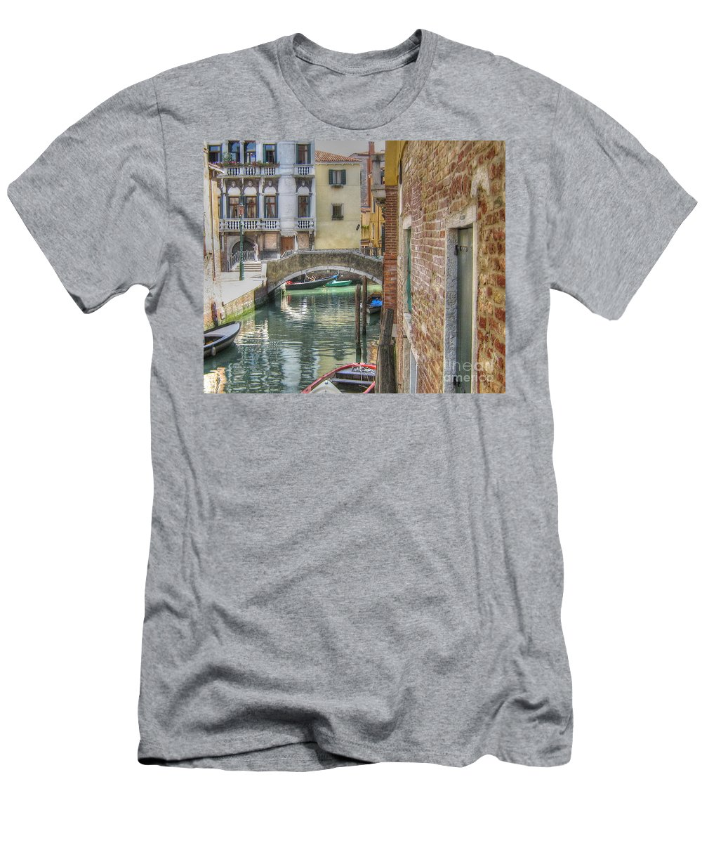 City Men's T-Shirt (Athletic Fit) featuring the pyrography Venice Channels1 by Yury Bashkin