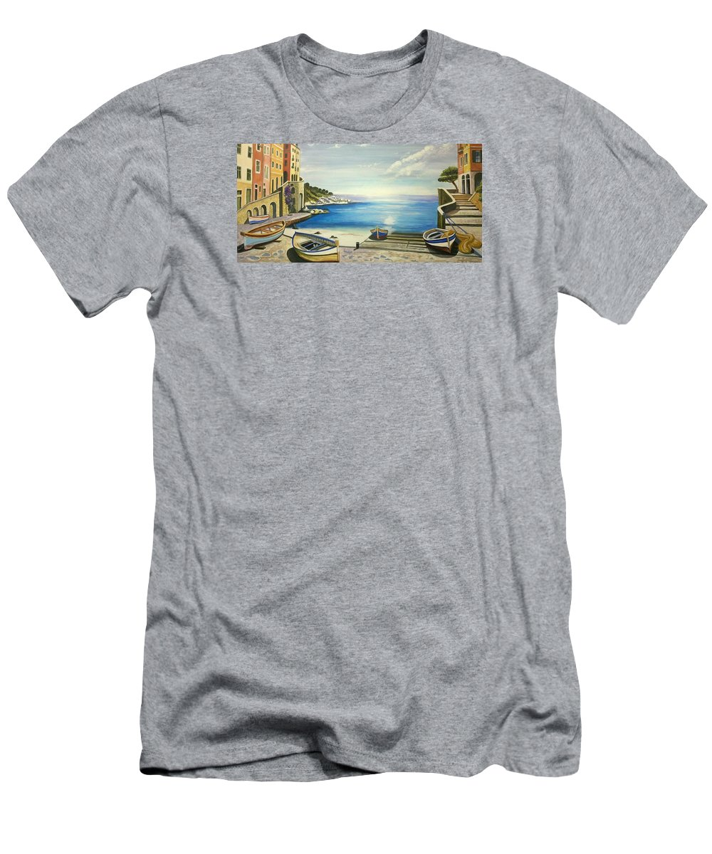 Venice Men's T-Shirt (Athletic Fit) featuring the painting Venice by Mostafa Aa