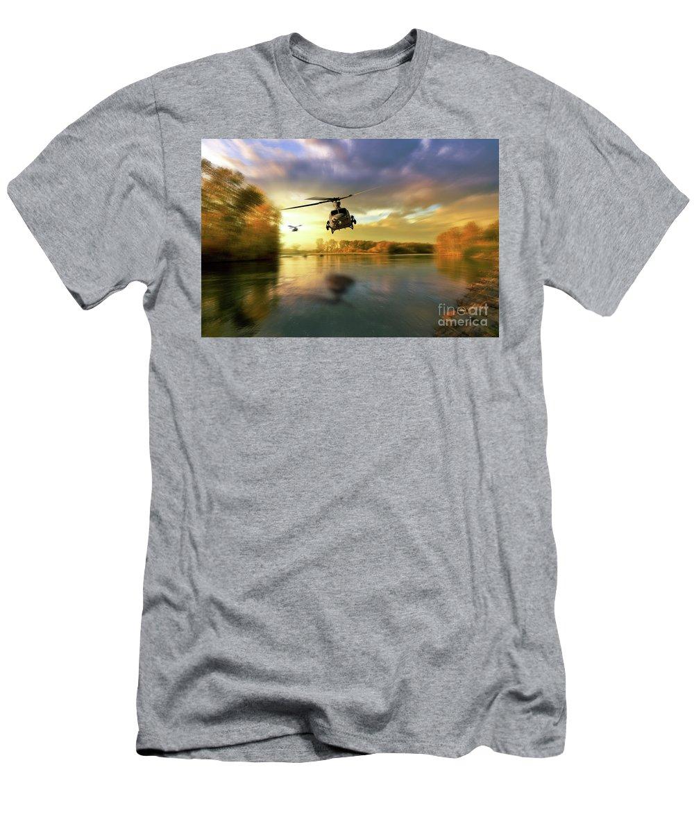 Uh-1y Men's T-Shirt (Athletic Fit) featuring the digital art Venomous Sting by J Biggadike