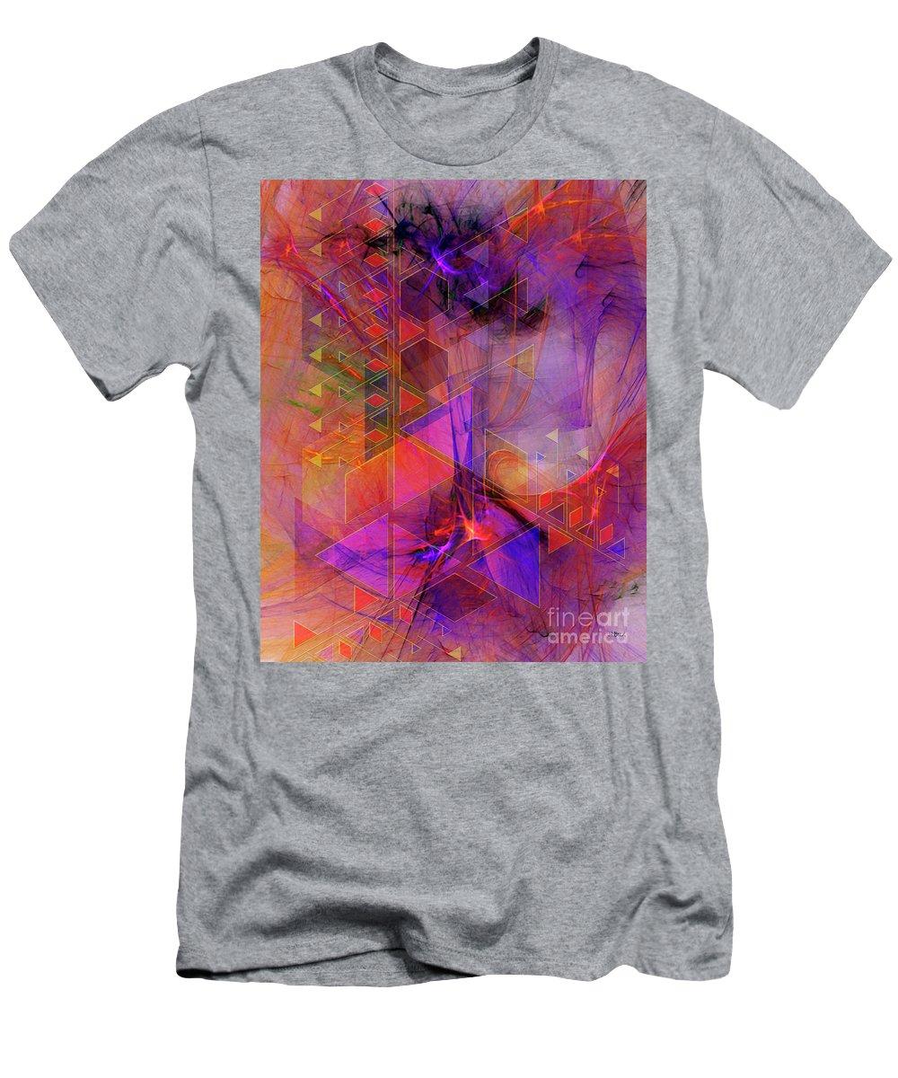 Vibrant Echoes Men's T-Shirt (Athletic Fit) featuring the digital art Vibrant Echoes by John Beck