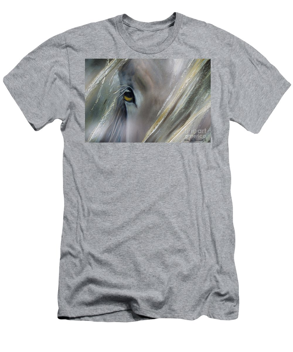 Horses T-Shirt featuring the painting View by Gina De Gorna