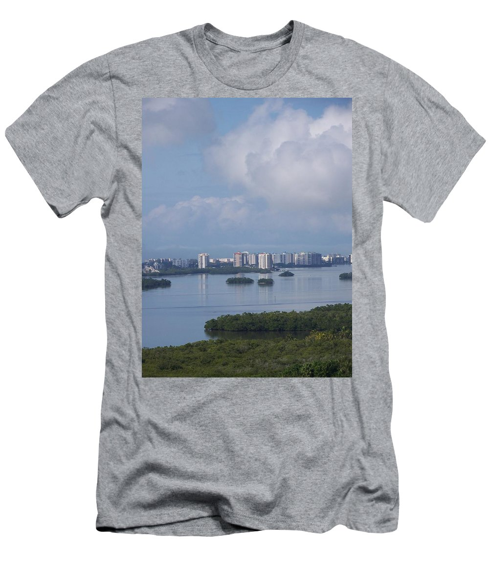 Fort Myers Beach Men's T-Shirt (Athletic Fit) featuring the photograph View Of Fort Myers Beach by Laurie Paci