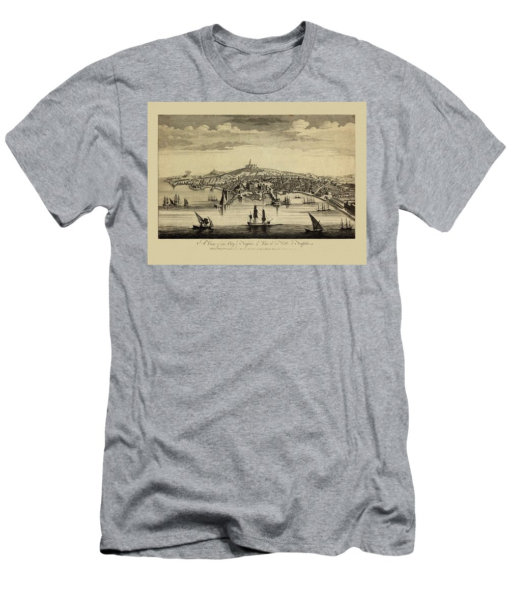 View Of Naples Men's T-Shirt (Athletic Fit) featuring the photograph View Of Naples 1755 by Andrew Fare