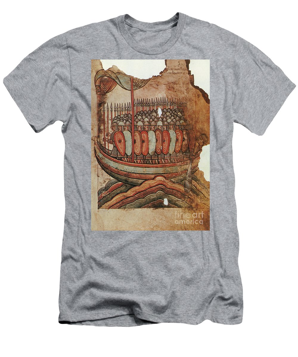 910s Men's T-Shirt (Athletic Fit) featuring the painting Viking Invasion 919 by Granger