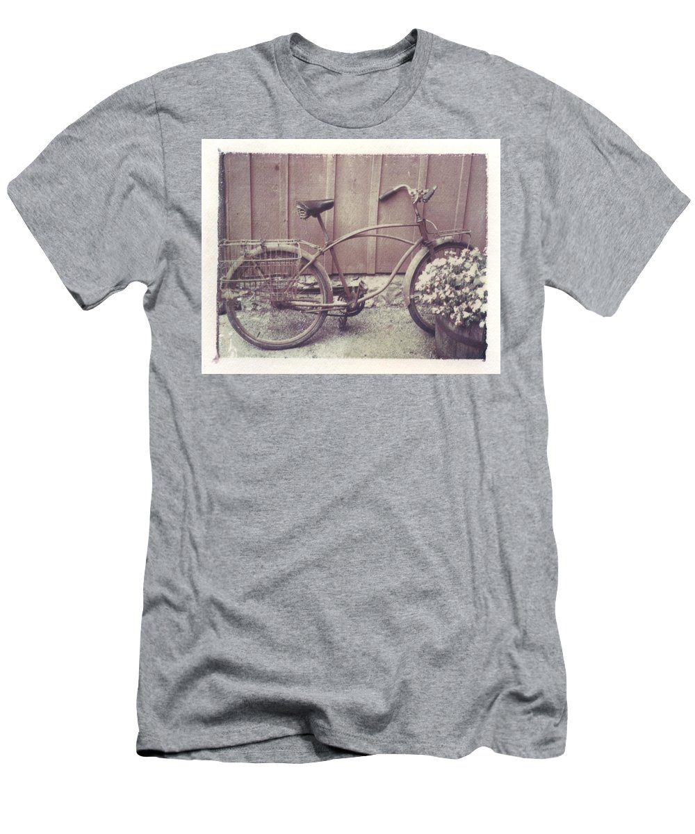 Bike Men's T-Shirt (Athletic Fit) featuring the photograph Vintage Bicycle by Jane Linders
