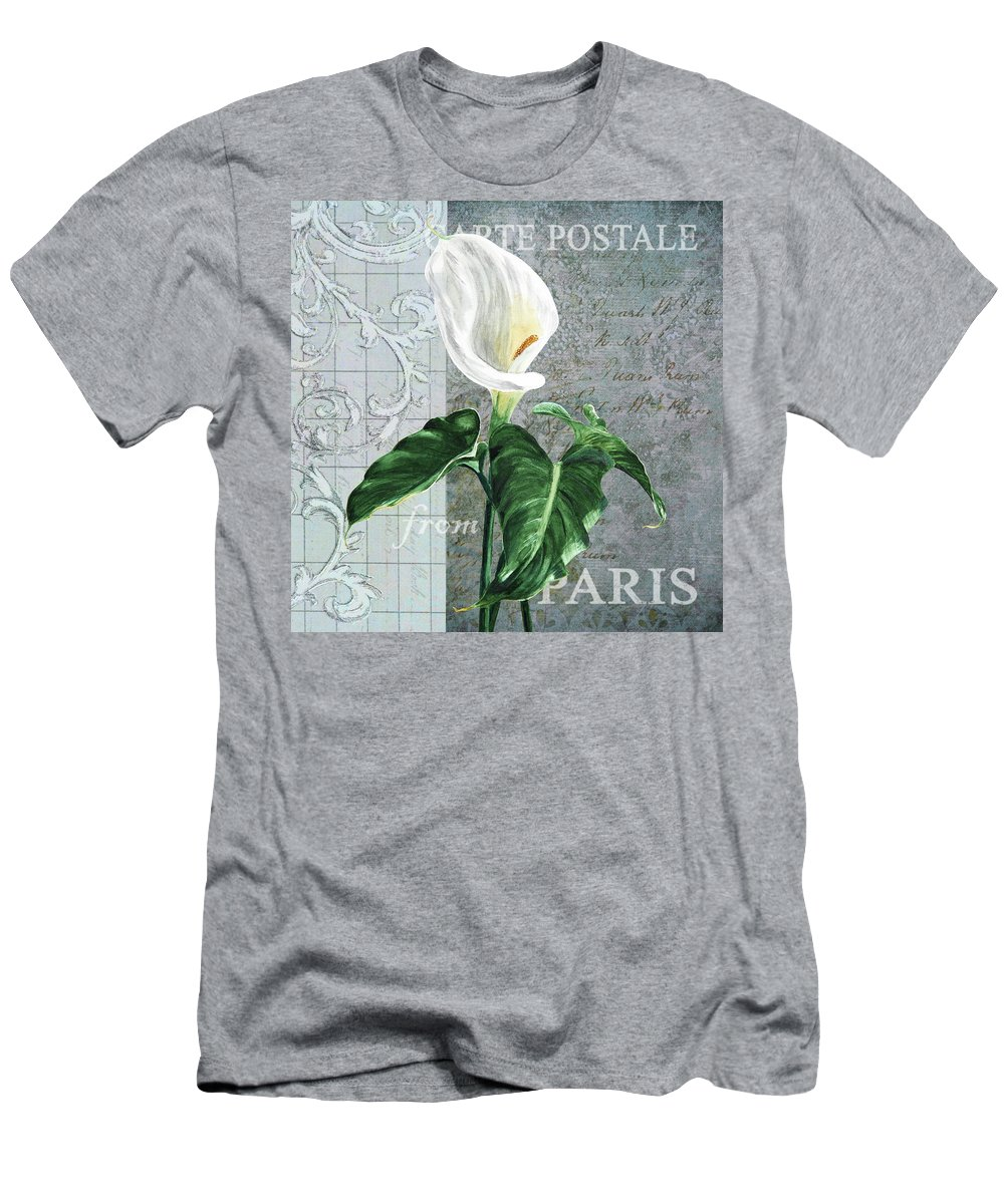 Collage Men's T-Shirt (Athletic Fit) featuring the painting Vintage Calla by Masha Batkova