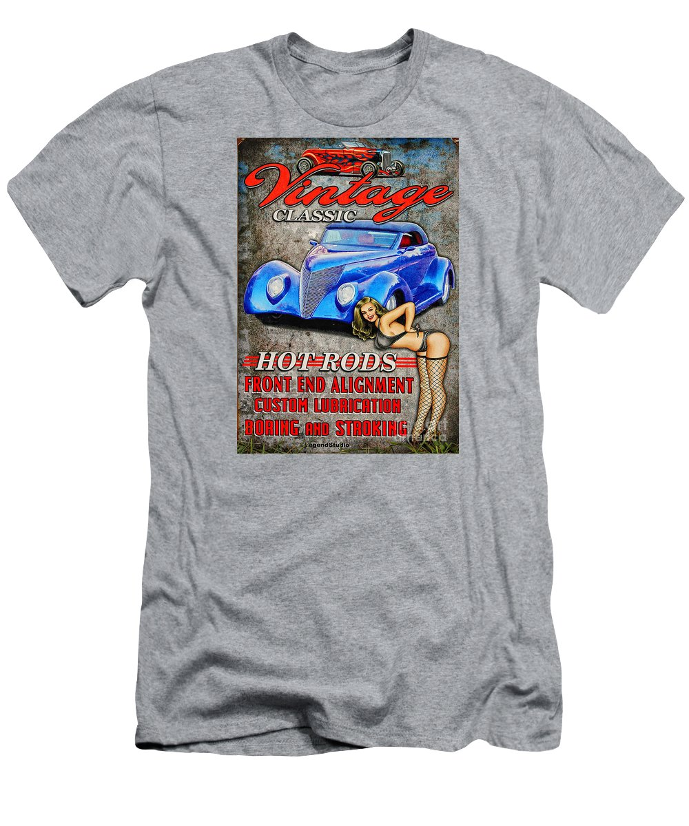 Photograph Men's T-Shirt (Athletic Fit) featuring the photograph Vintage Classic Sign by Anna Sheradon