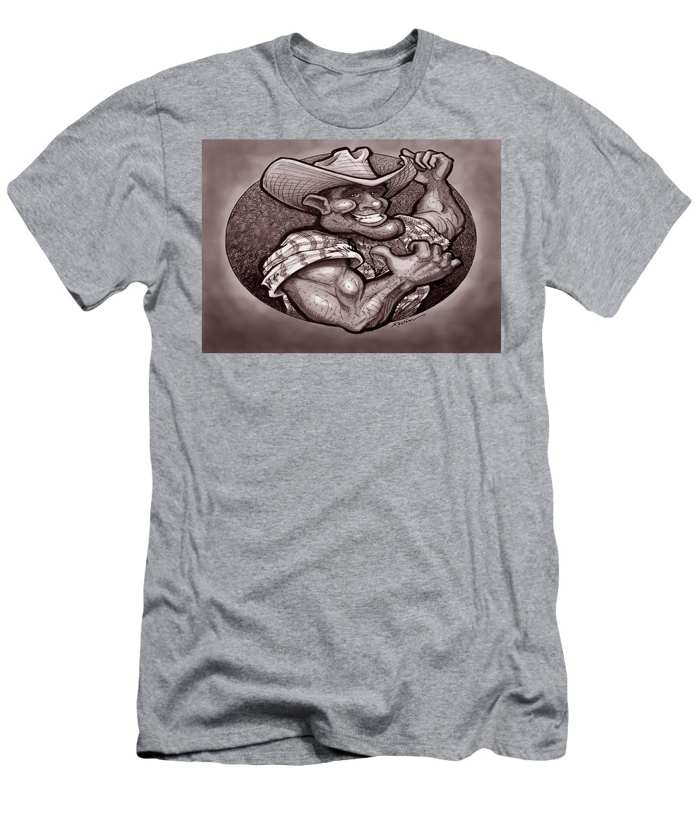 Cowboy Men's T-Shirt (Athletic Fit) featuring the painting Vintage Cowboy by Kevin Middleton