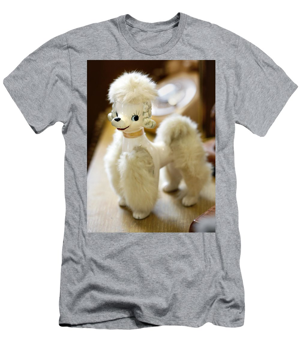 Poodle Men's T-Shirt (Athletic Fit) featuring the photograph Vintage Poodle by Marilyn Hunt