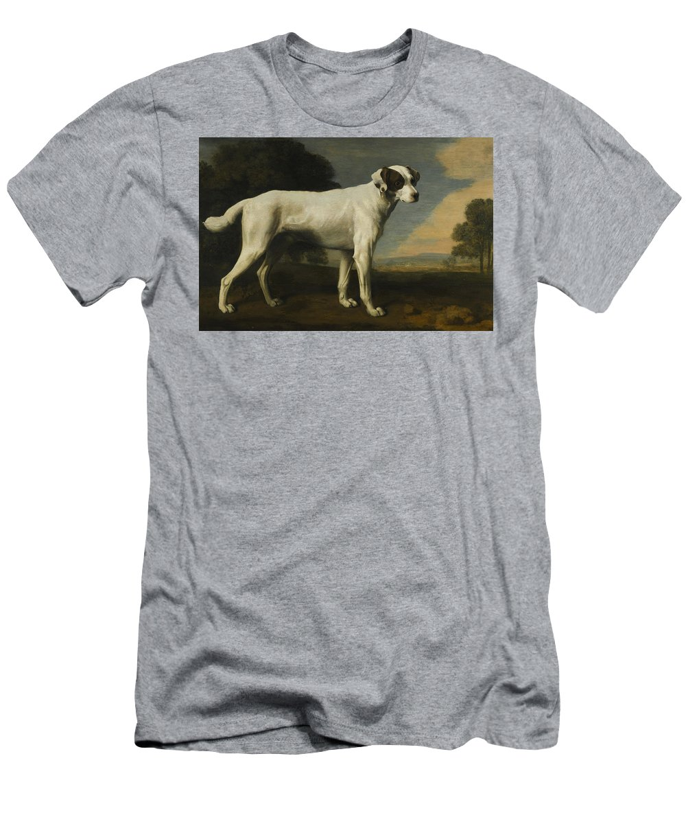 Viscount-gormanston-s-white-dog Men's T-Shirt (Athletic Fit) featuring the painting Viscount Gormanston by MotionAge Designs