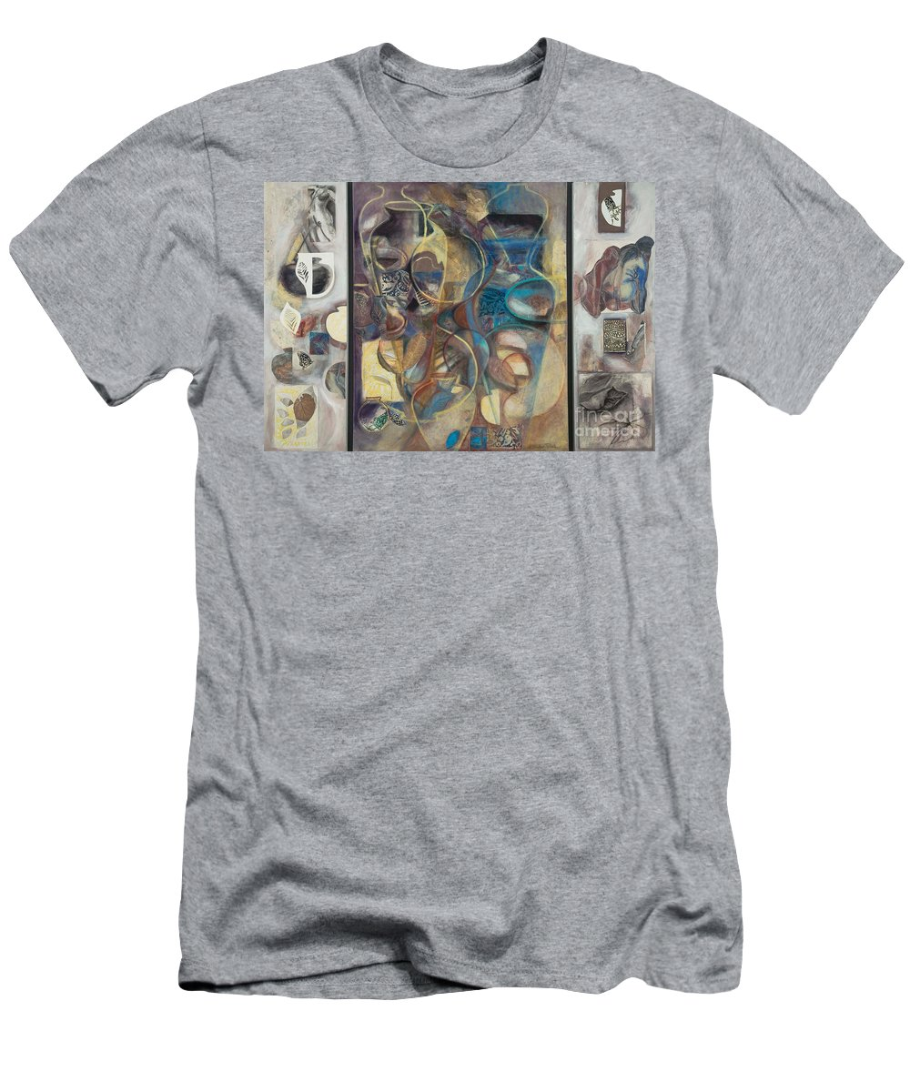 Vessels Men's T-Shirt (Athletic Fit) featuring the painting Visible Traces by Kerryn Madsen-Pietsch