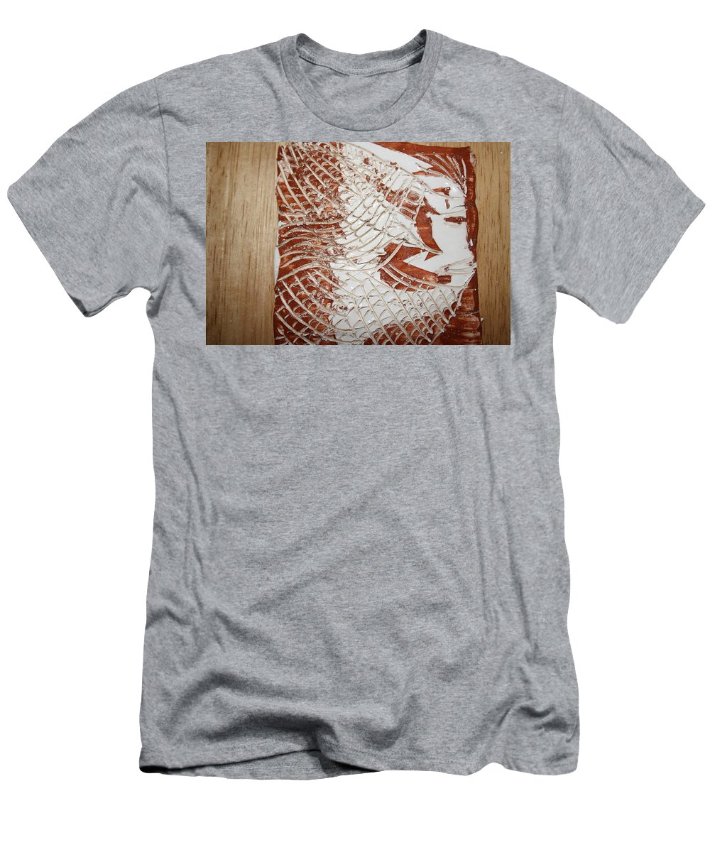 Jesus Men's T-Shirt (Athletic Fit) featuring the ceramic art Visions - Tile by Gloria Ssali