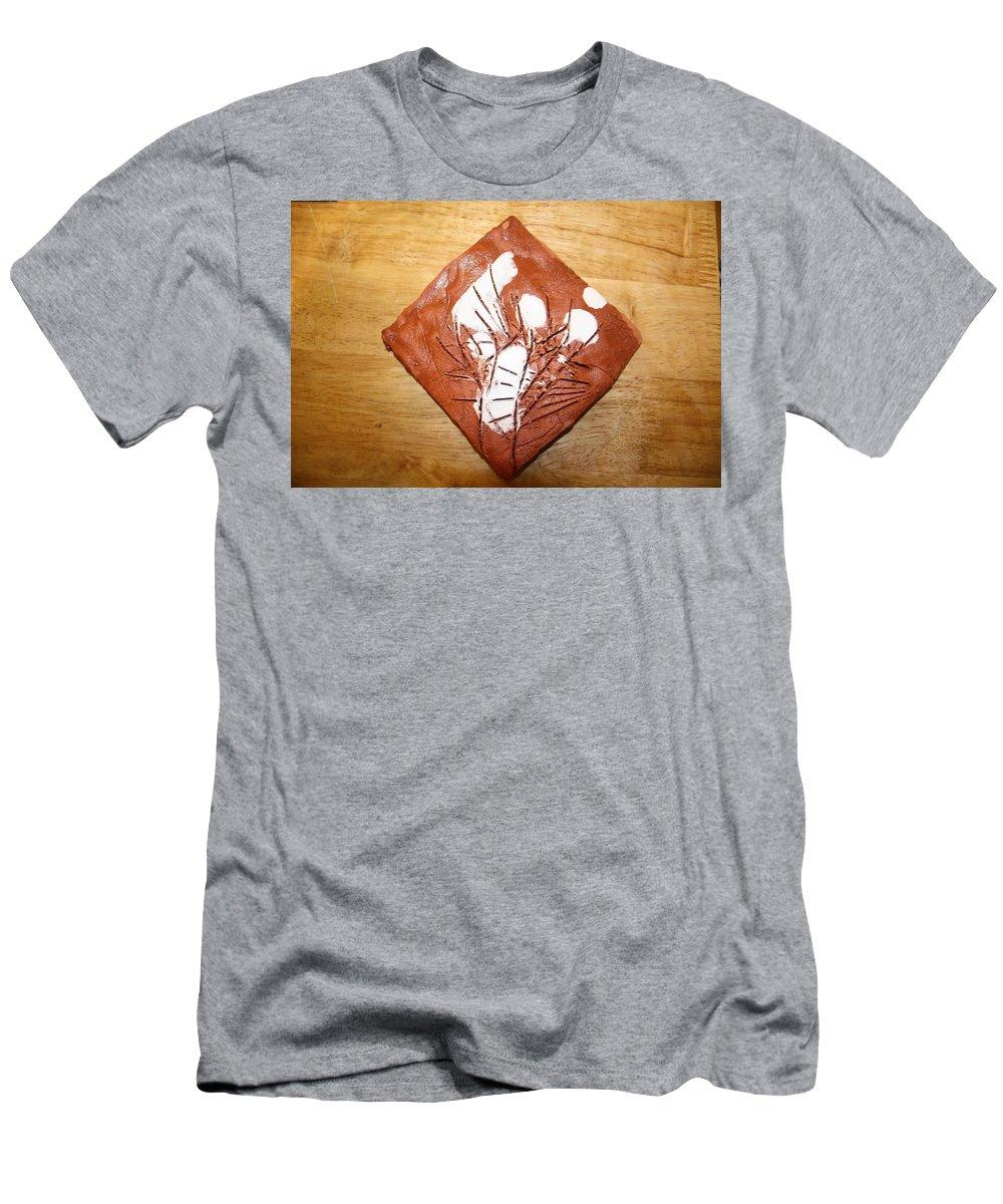 Jesus Men's T-Shirt (Athletic Fit) featuring the ceramic art Voices - Tile by Gloria Ssali