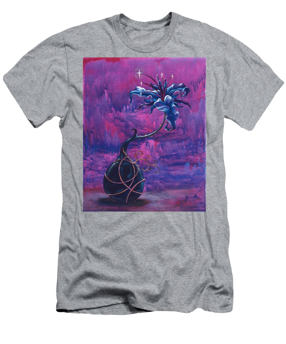 Lily Men's T-Shirt (Athletic Fit) featuring the painting Waiting Flower by Jennifer McDuffie