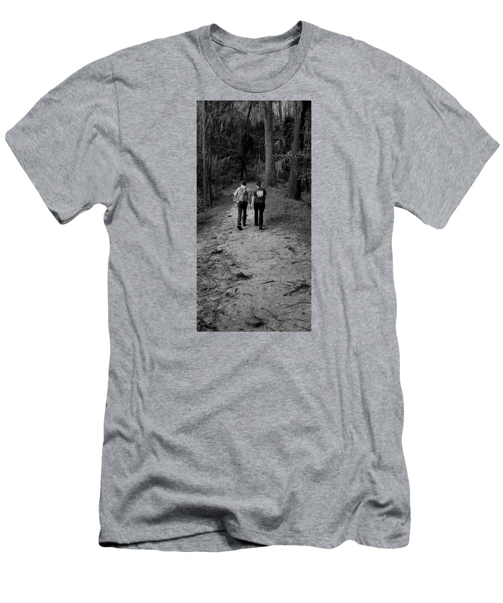 Couple Men's T-Shirt (Athletic Fit) featuring the photograph Walkabout by Dario Boriani
