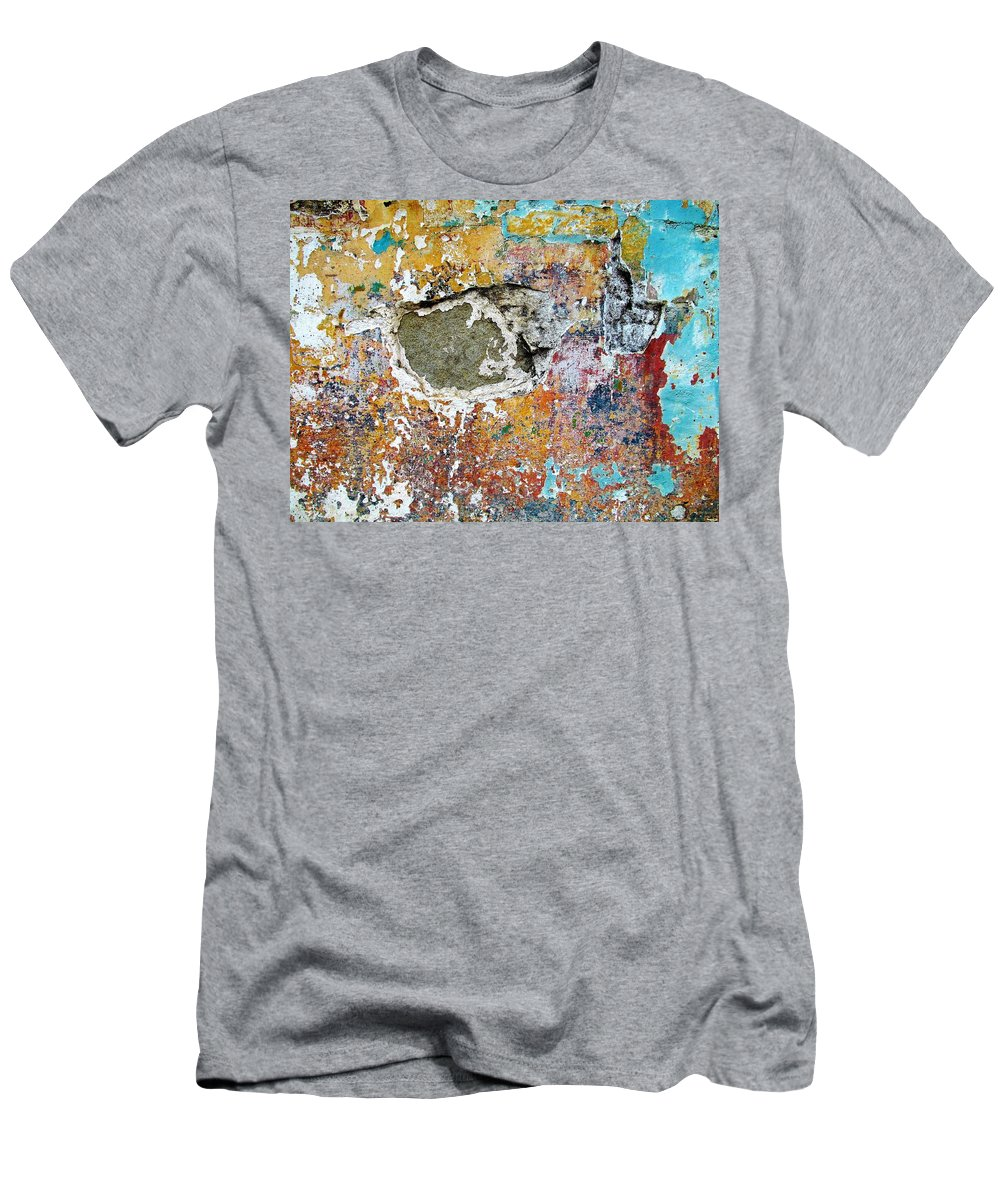 Texture Men's T-Shirt (Athletic Fit) featuring the photograph Wall Abstract 196 by Maria Huntley
