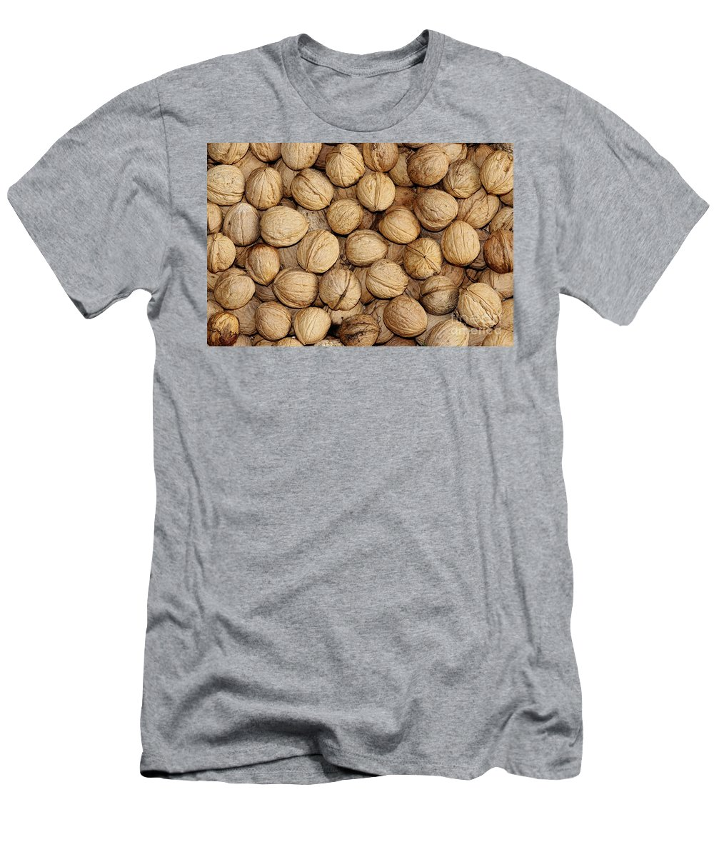 Autumn Men's T-Shirt (Athletic Fit) featuring the photograph Walnuts by Michal Boubin