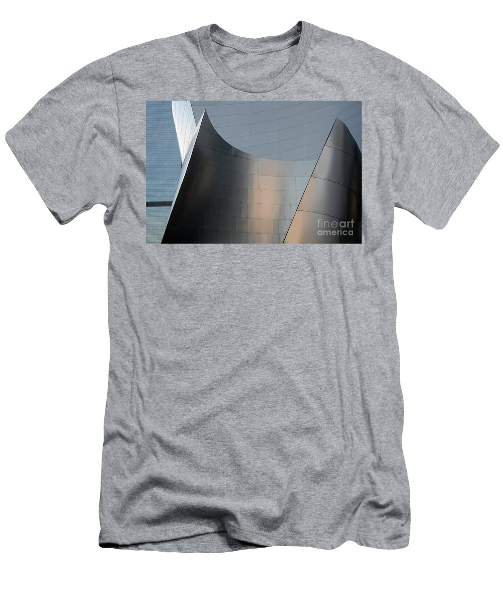 Disney Men's T-Shirt (Athletic Fit) featuring the photograph Walt Disney Concert Hall 23 by Bob Christopher