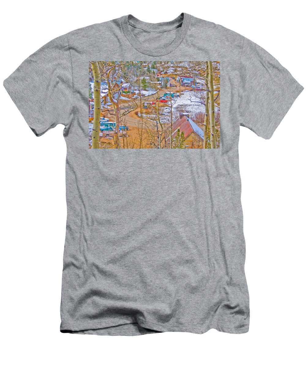 Ward Men's T-Shirt (Athletic Fit) featuring the photograph Ward Boulder County Colorado by James BO Insogna