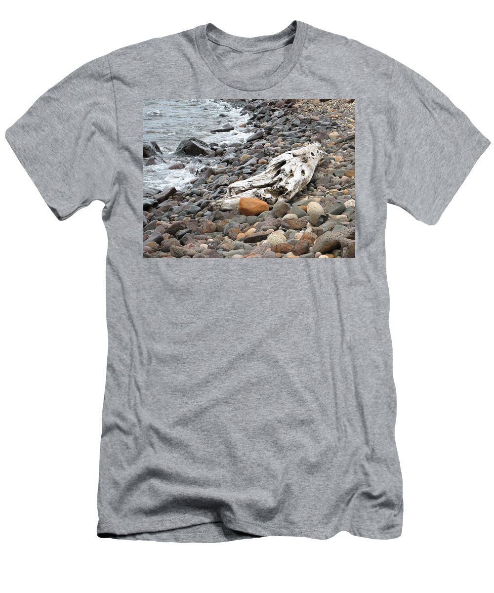 Driftwood Men's T-Shirt (Athletic Fit) featuring the photograph Washed Up by Kelly Mezzapelle