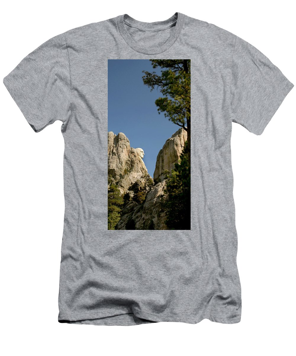 Mount Rushmore Men's T-Shirt (Athletic Fit) featuring the photograph Washingtons Profile by Mike Oistad