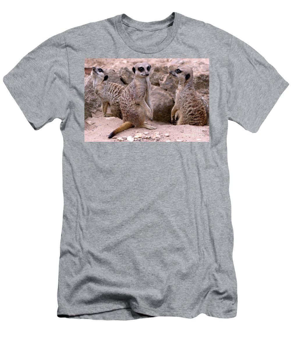 Animal Men's T-Shirt (Athletic Fit) featuring the photograph Watchers by Baggieoldboy
