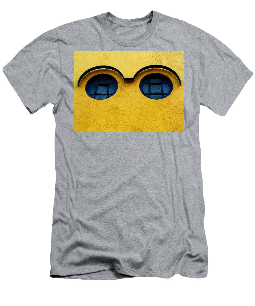 Wall Men's T-Shirt (Athletic Fit) featuring the photograph Watching You ... by Juergen Weiss
