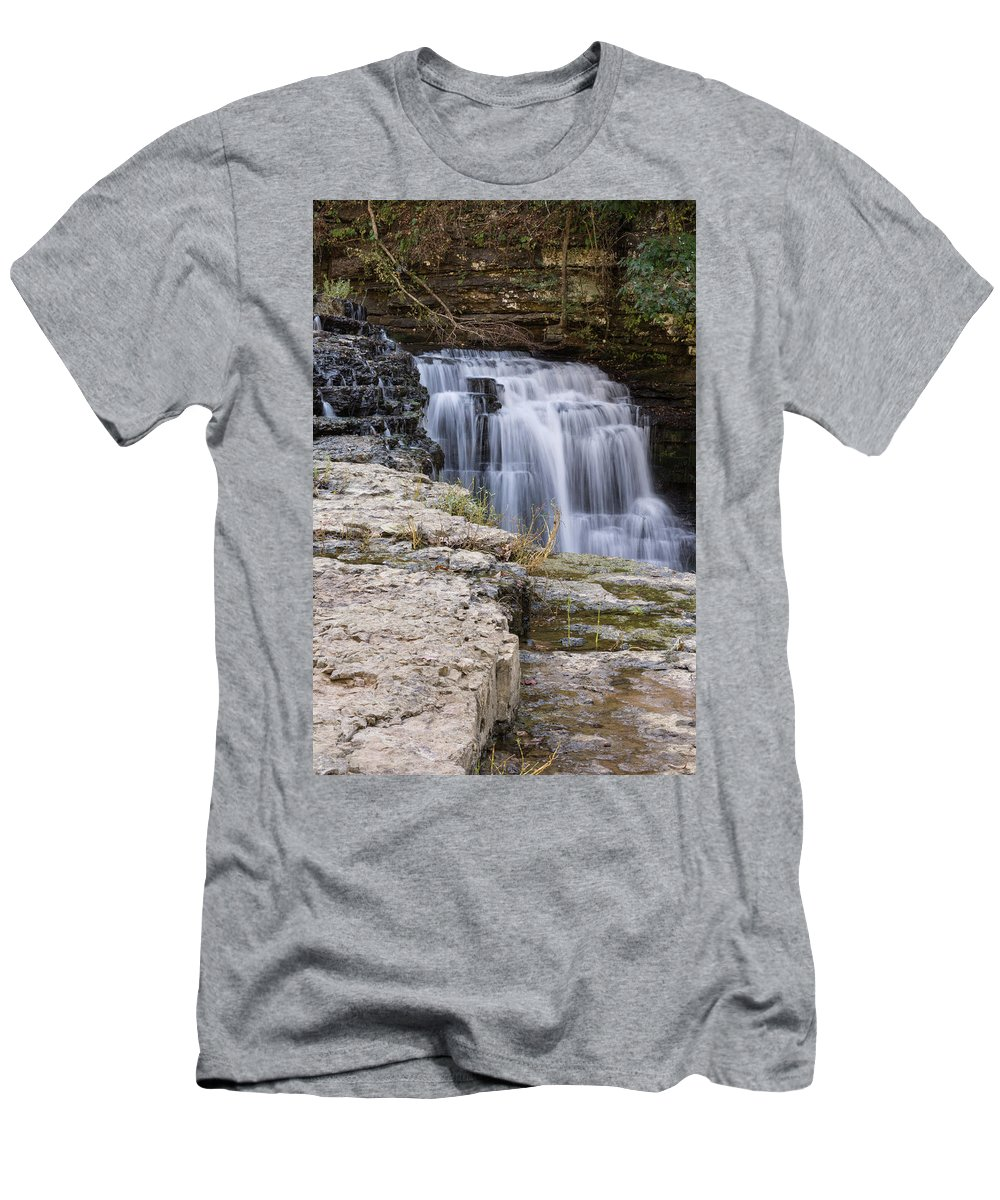 Landscape Men's T-Shirt (Athletic Fit) featuring the photograph Water In Motion by John Benedict