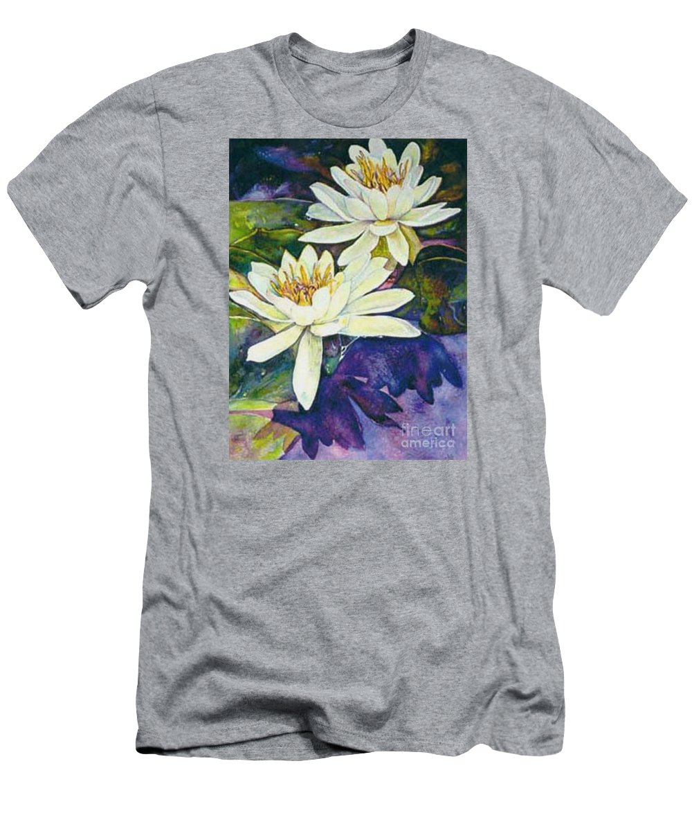 Flower Men's T-Shirt (Athletic Fit) featuring the painting Water Lilies by Norma Boeckler