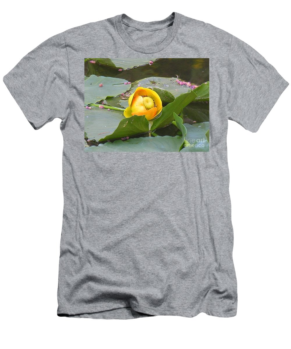 Water Men's T-Shirt (Athletic Fit) featuring the photograph Water Lilly by Diane Greco-Lesser